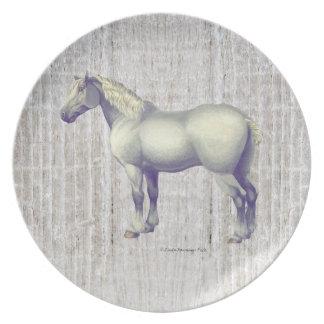 Het Grijze Paard Percheron van de vlek Melamine+bord