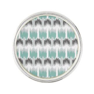 Het grijze Patroon Ikat van Aqua van de Munt Reverspeldje