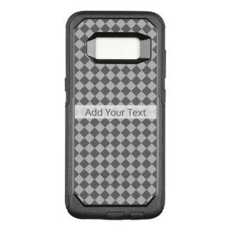 Het grijze Patroon van de Diamant van de OtterBox Commuter Samsung Galaxy S8 Hoesje
