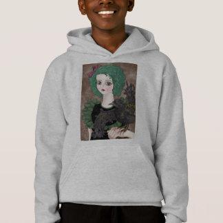 Het Grijze Sweatshirt Met een kap van de raaf