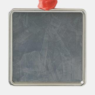 Het Grijze Venetiaanse Pleister van de lei Zilverkleurig Vierkant Ornament