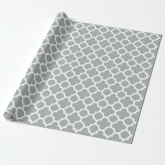 Het grijze Verpakkende Document van het Patroon Inpakpapier