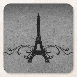 Het grijze Vintage Frans bloeit het Onderzetter