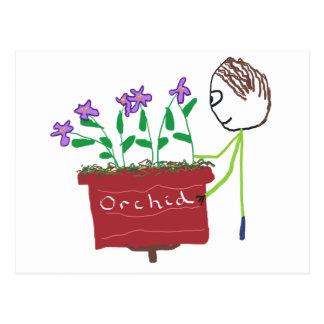 Het Groeien van de orchidee Briefkaart