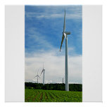 Het groeiende Graan en Poster van Windmolens/Druk