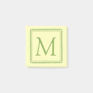 Het Groen van de lente en het Monogram van de Post-it® Notes