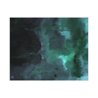Het groene Abstracte #1 schilderen Canvas Afdruk