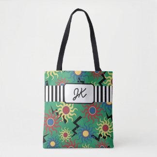 Het Groene Abstracte Canvas tas met monogram van