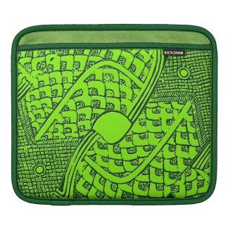 Het groene Azteekse Sleeve van de Riksja van het iPad Sleeve