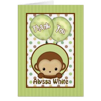 Het groene Baby shower MPPv4 van de aap dankt u Kaart