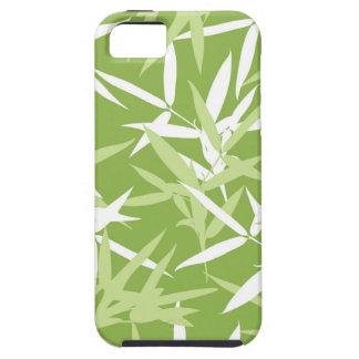 Het groene Bamboe verlaat Uniek Patroon Tough iPhone 5 Hoesje