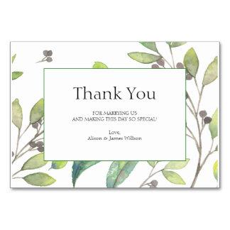 Het groene bladerenhuwelijk dankt u kaardt kaart