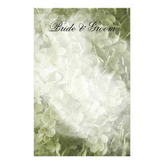 Het groene BloemenHuwelijk van de Hydrangea Briefpapier