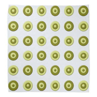 Het groene element van stippen bandana