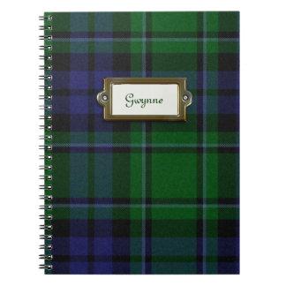 Het groene en Blauwe Notitieboekje van de Plaid Ringband Notitieboek