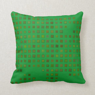 Het groene en Gele Hoofdkussen van Vierkanten Sierkussen