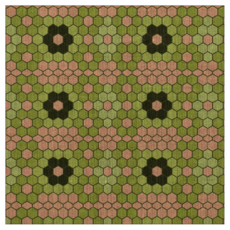 Het Groene en Peachy Roze Mozaïek van het mos Stof