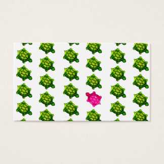 Het groene en Roze Patroon van Schildpadden Visitekaartjes