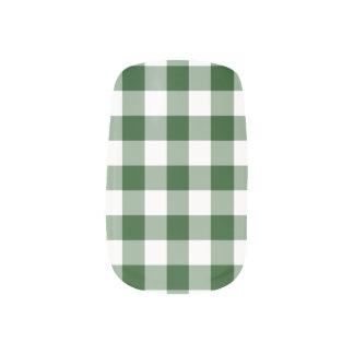 Het groene en Witte Patroon van de Gingang Minx Nail Art