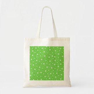 Het groene en Witte Patroon van de Ster Draagtas