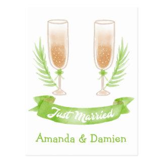 Het groene enkel Gehuwde Huwelijk van het Glas van Briefkaart