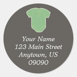 (Het Groene) Etiket van het Adres van de Ronde Sticker