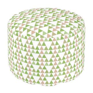 Het groene Geometrische Mozaïek van de Driehoek Poef
