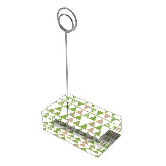 Het groene Geometrische Mozaïek van de Driehoek Tafelkaart Houder