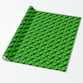 Het groene Geometrische Verpakkende Document van Cadeaupapier