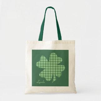 Het groene Gepersonaliseerde Canvas tas van