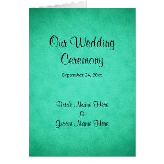 Het groene Gevlekte Programma van het Huwelijk van Wenskaart