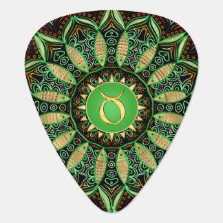 Het Groene Goud van Mandala ~ van de Stier van het Gitaar Plectrums 0