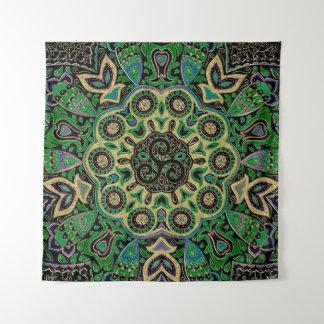 Het groene Gouden Keltische Tapijtwerk van Wandkleed