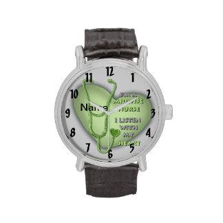 Het Groene Hart van de Verpleegster van de vroedvr Horloges