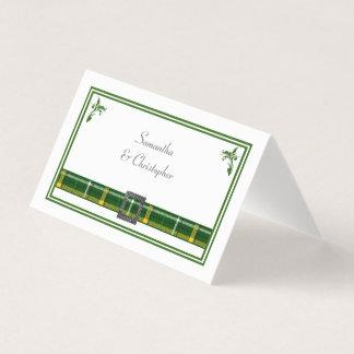 Het groene huwelijk van de geruite Schotse wollen Plaatskaart