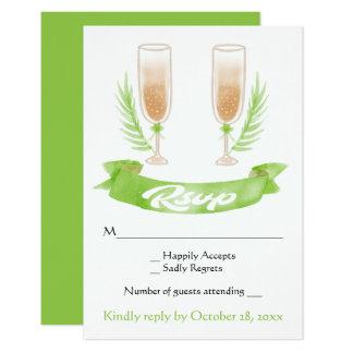 Het groene Huwelijk van de Glazen van Champagne Kaart