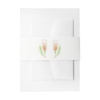 Het groene Huwelijk van de Glazen van Champagne Uitnodigingen Wikkel