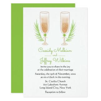 Het groene Huwelijk van de Glazen van de Wijn van Kaart