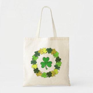 Het groene Ierse Bolsa van de Klaver van de Kroon Draagtas