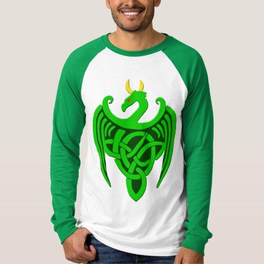 Het groene Keltische Overhemd van het Sleeve van T Shirt