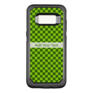 Het groene Klassieke Schaakbord van de Combinatie OtterBox Commuter Samsung Galaxy S8 Hoesje