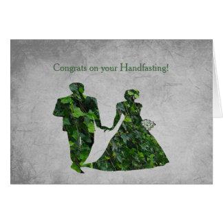 Het Groene Man & Groene Dame Handfasting Blessings Kaart