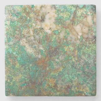 Het groene Minerale Afbeelding van de Steen Stenen Onderzetter