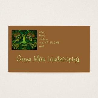 Het groene Modelleren van het Man of het Visitekaartjes