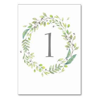 Het groene nummer van de het huwelijkslijst van de kaart
