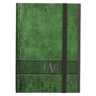 Het Groene Ontwerp van het Boek rustieke Grunge iPad Air Hoesje