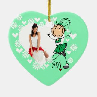 Het groene Ornament van Cheerleader van het Cijfer
