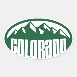 Het Groene Ovaal van Colorado Ovale Sticker