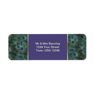 Het groene paarse Etiket van het Adres van