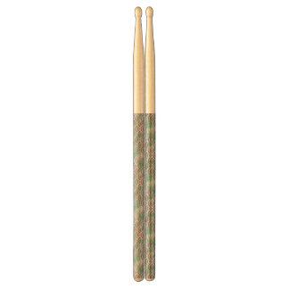 Het groene Paarse Patroon van de Pastelkleur van Drumstokkies 0